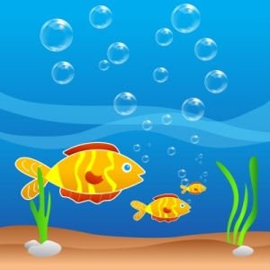 One Fishie, Two Fishie, I'm a Little New Fishie by Donna L. Martin