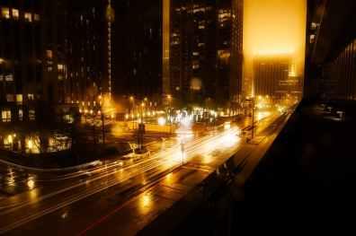 architecture blur buildings car