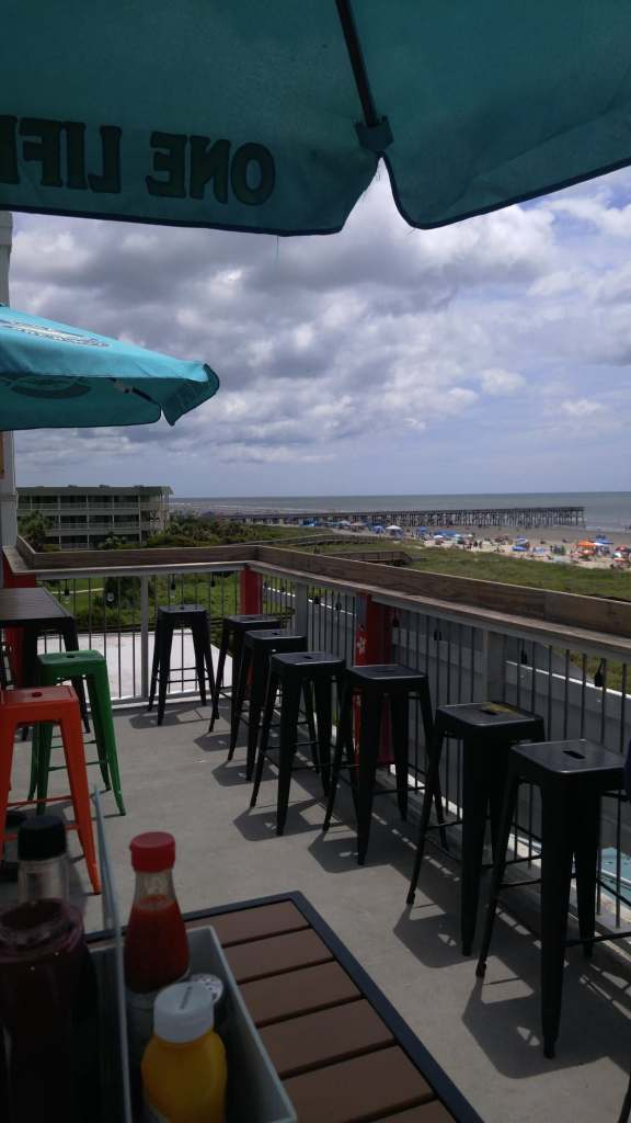 The isle of Palms from the rooftop of a restaurant