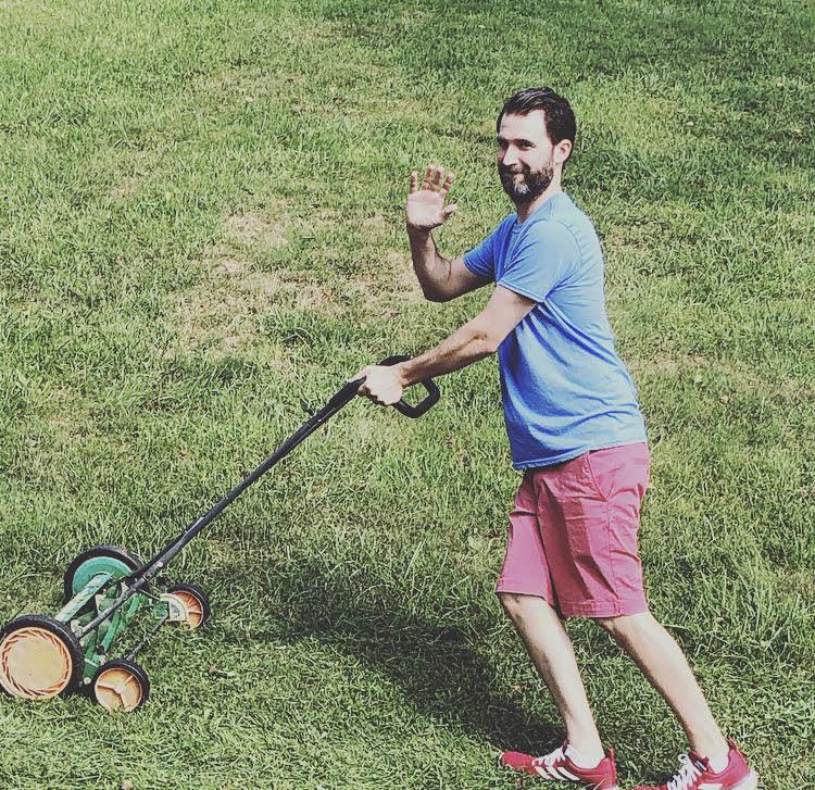 Allison Pearl's husband working hard on their Pennsylvania farm
