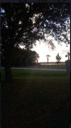 Sullivan's Island looking across the Inter Coastal Waterway at sunset.
